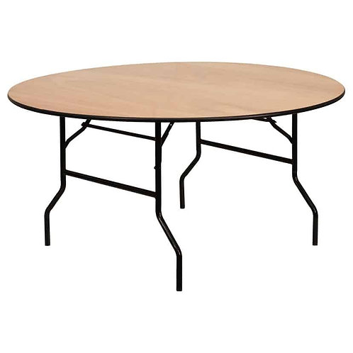 3ft Wooden Round Table