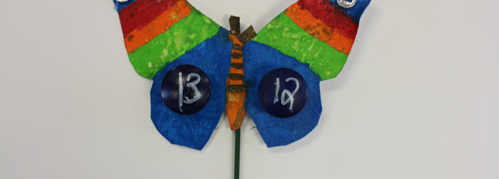Recycled butterfly Sculpture 5