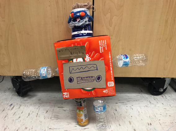Art Club Recycled Robots