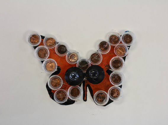 Recycled Butterfly Sculpture 1