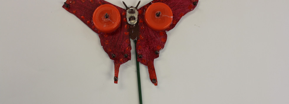 Recycled Butterfly Sculpture 3