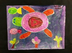 SouthwestElementary.LupitaReyes.4thGrade.SeaTurtleCollage.MixedMedia