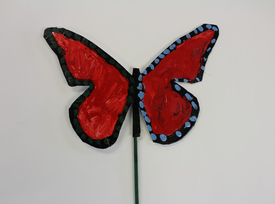 Recycled Butterfly Sculpture 2