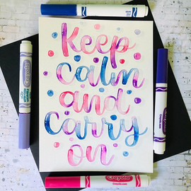 keep calm and carry on brush lettering |