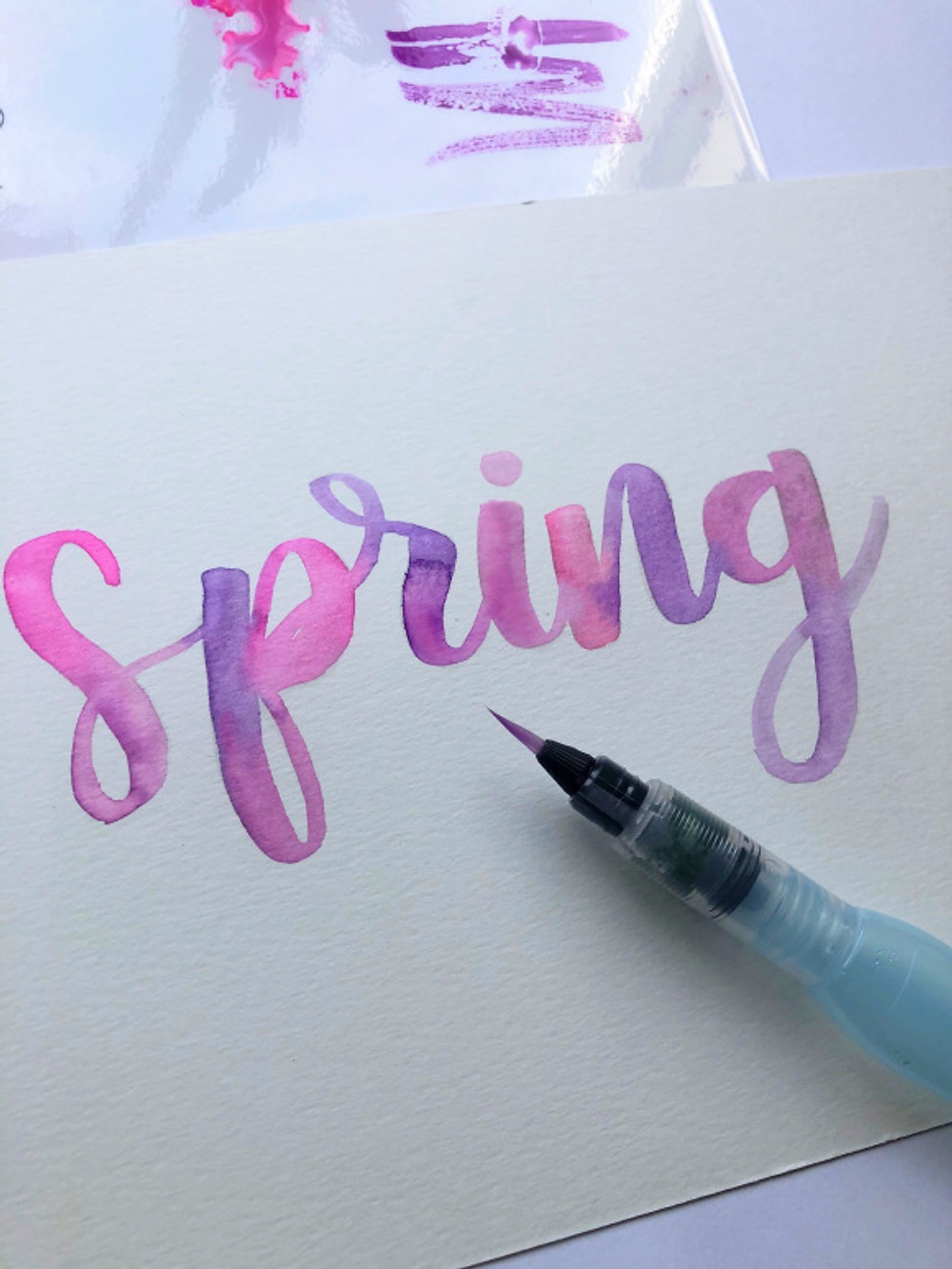 Watercolour Lettering Word