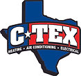 The Logo for C Tex Heating, Air, and Electrical