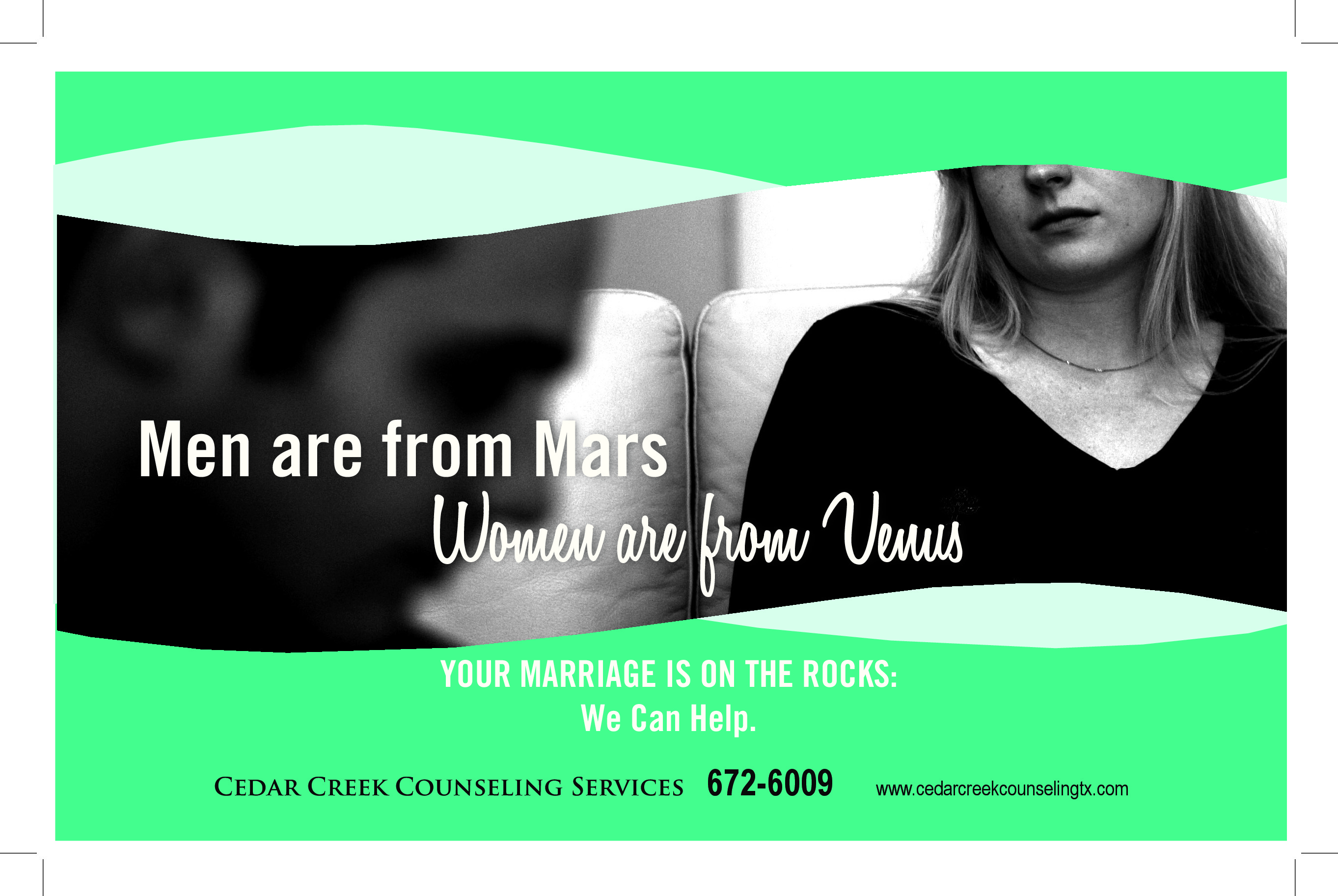Cedar Creek Counseling Services Ad