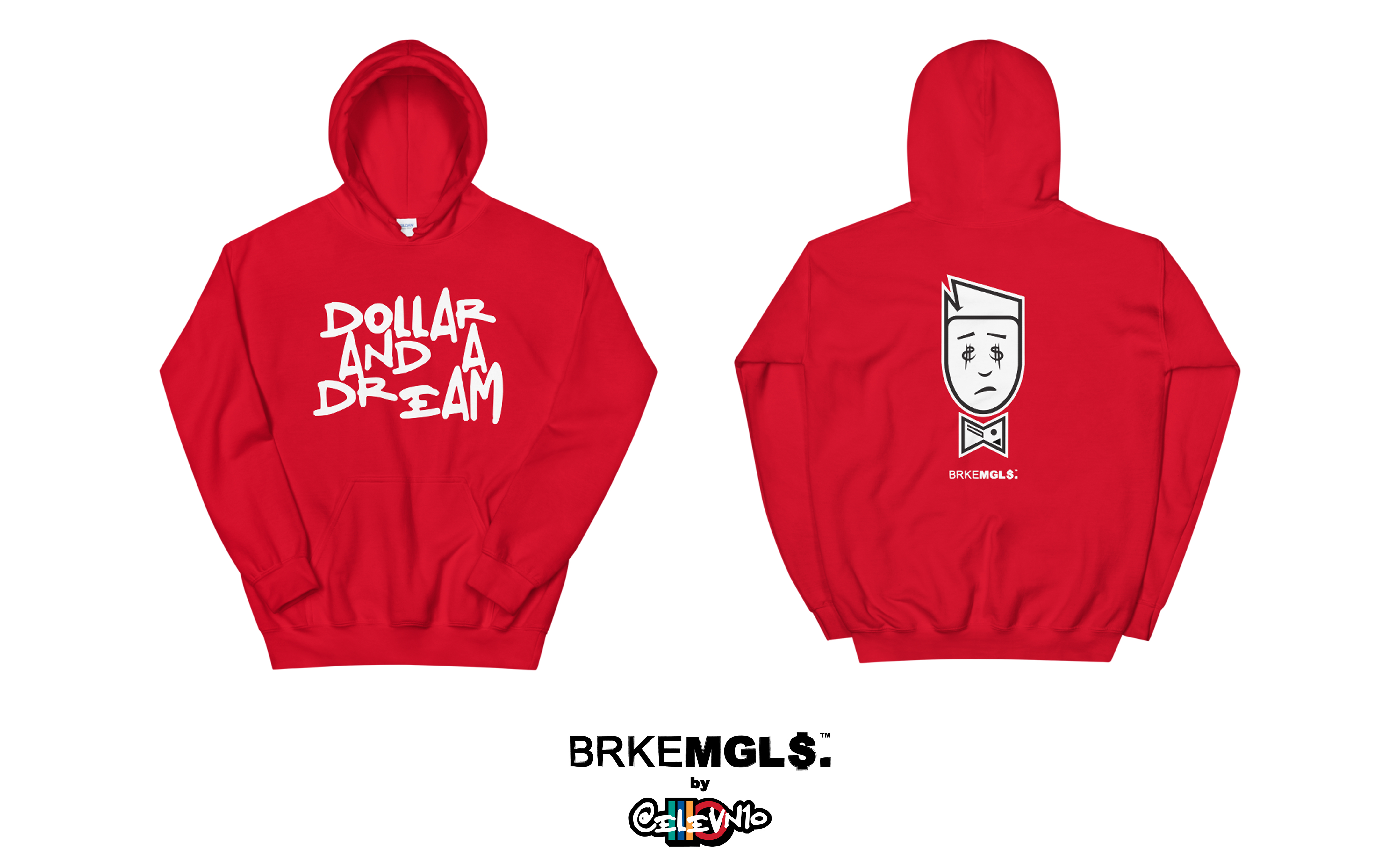 DOLLAR & DREAM by BRKEMGL$. HOODIE