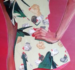 Detail of ' Shining Girl, Red'