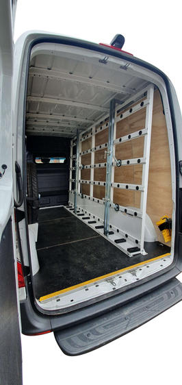 Glass Rack inside Van