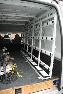 Internal Van Racking System