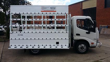 Glass Truck body Hino