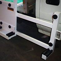 Pull out bar for glass a-frame