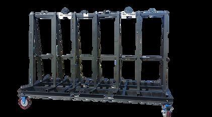 Glass A-Frame, Glass trolley, stillage