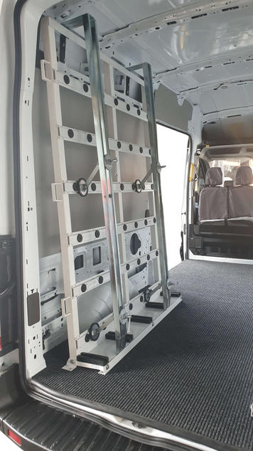 Internal Van Glass Rack