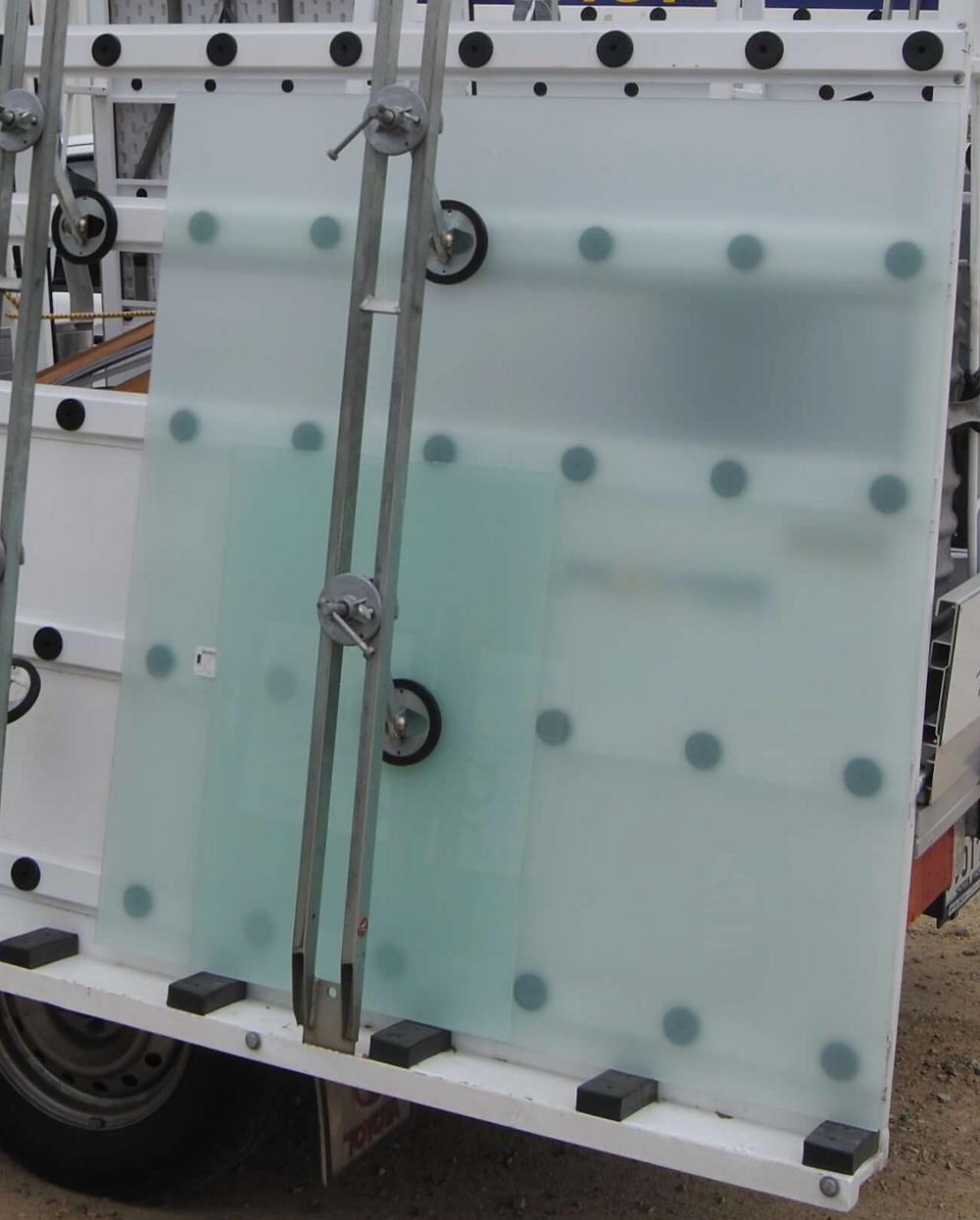 Loading Glass on Vehicle Glass Rack
