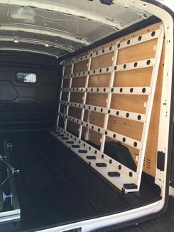 Internal Glass Van Racking System