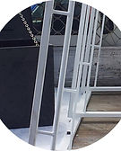 Rope Rails for Glass A-frame