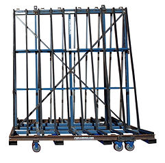 Heavy Duty A-frame to transport large sheets of  panels of glass