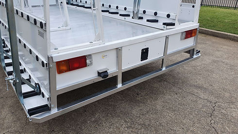 Rear Step for Truck Body