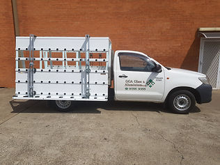 Glass Rack for ute Toyotal Hilux