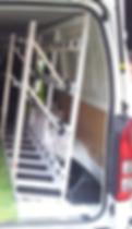 Internal Loading Glass Van Rack