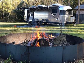 RV camping at the barns