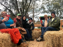 Group camping hayride