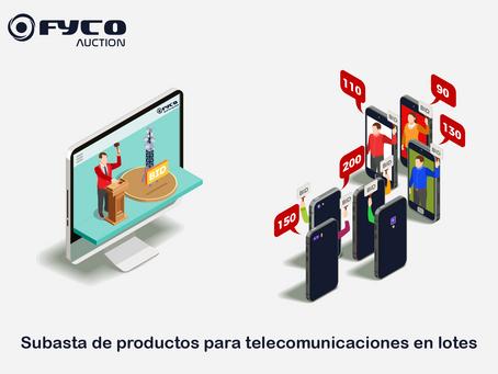 Subasta de productos para telecomunicaciones en lote