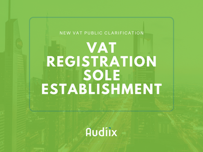 VAT registration of Sole Establishments
