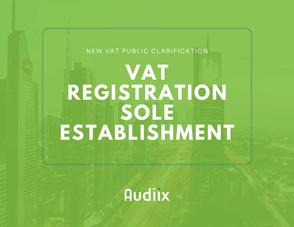 VAT registration for Sole Establishment in the UAE