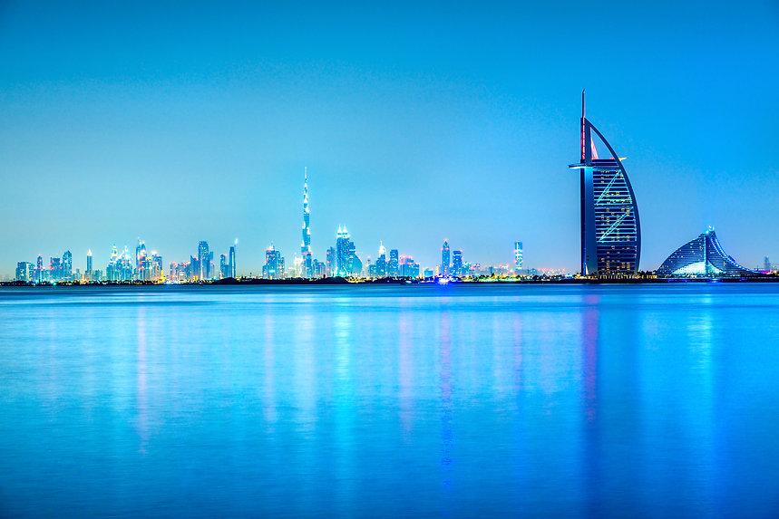 Dubai skyline at dusk, UAE..jpg