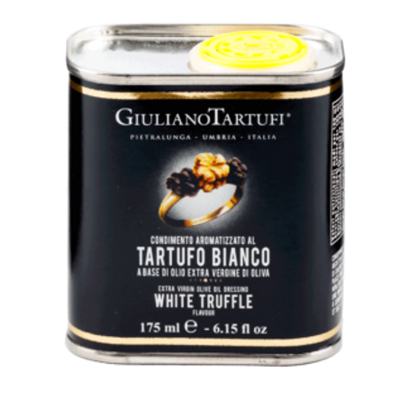 Extra virgin olive oil and white Truffle flavor in can square (pack of 2) 350ml