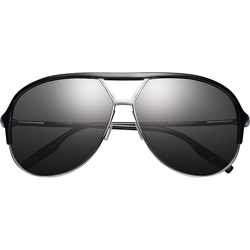 Division Polished Black-Chrome/Grey Polarized