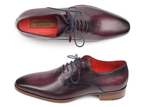 Men's Plain Toe Oxfords Purple Shoes