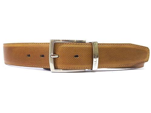 Men's Perforated Leather Belt Beige (ID#B08-BEJ)