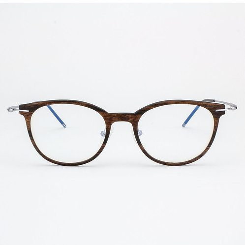 Pinellas - Featherlight Titanium & Wood Eyeglasses