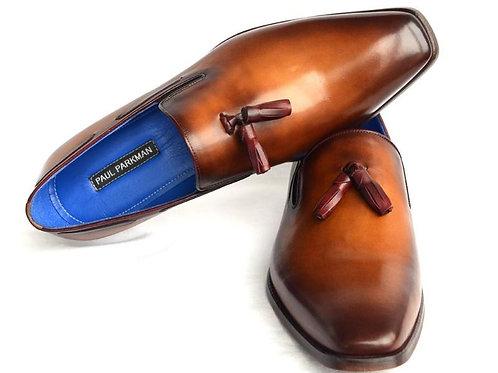 Men's Tassel Loafer Walnut Leather Sole Leather Upper