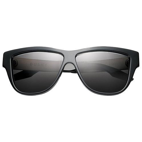 Dusky: Polished Black - Brushed Aluminum / Grey Lens