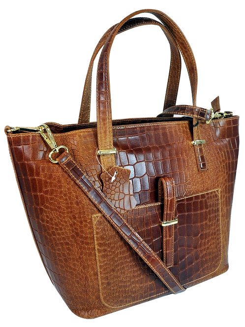 Misty U.S.A. 100% Genuine Cowhide Leather Handbags Made in Italy[YG8132-Bn]