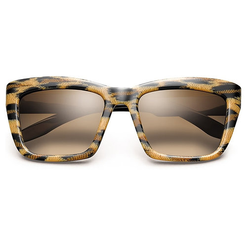 Bonnie: Polished Leopard - Polished Black / Bronze Gradient Lens
