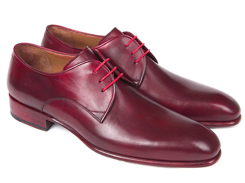 Burgundy Hand Painted Derby Shoes