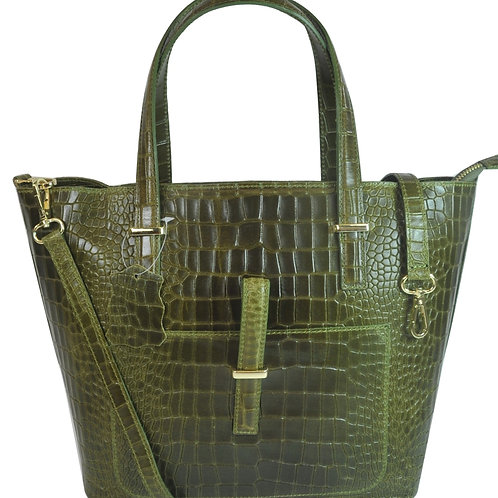 Misty U.S.A. 100% Genuine Cowhide Leather Handbags Made in Italy[YG8132-Gn]