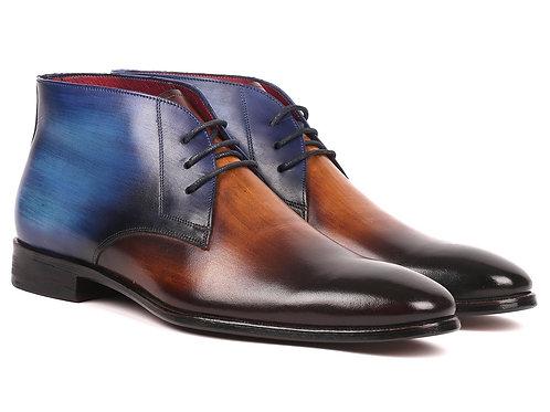 Men's Chukka Boots Brown & Blue