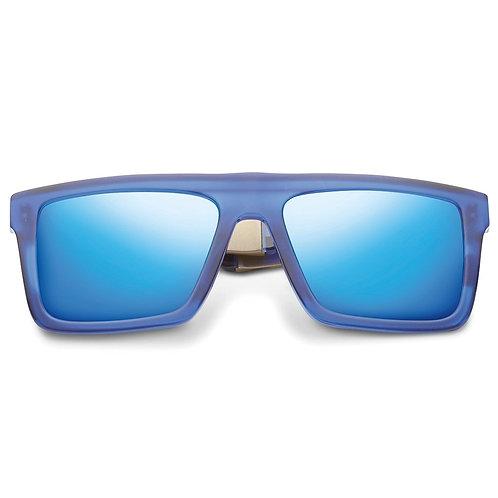Sepulveda: Matte Midway Blue - Antique Brass / Pacific Blue Flash Lens