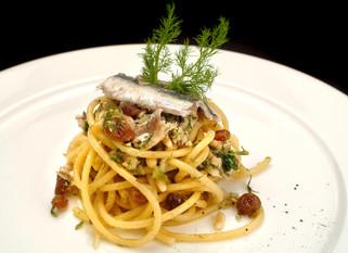 Chef Gianluca Deiana Abis: Pasta Con le Sarde/ Pasta with Sardines