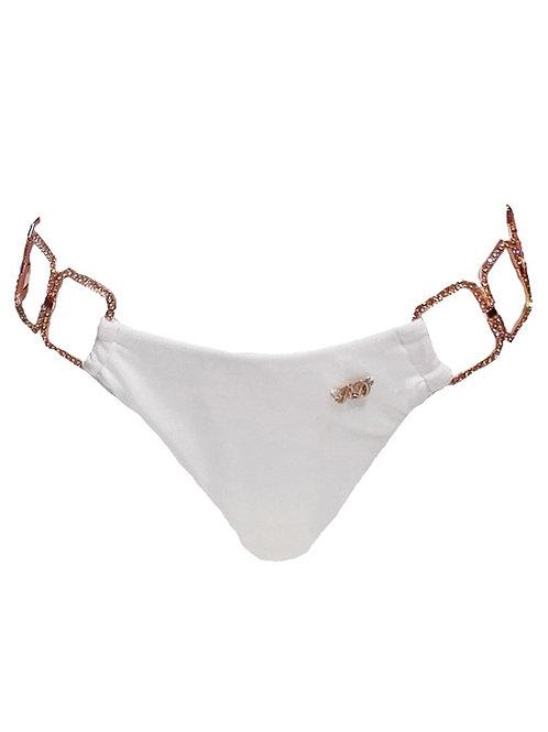 Tessa Tie Side Bottom - White