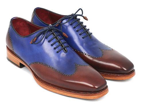 Men's Wingtip Oxford Goodyear Welted Blue & Brown (ID#81BLU57)