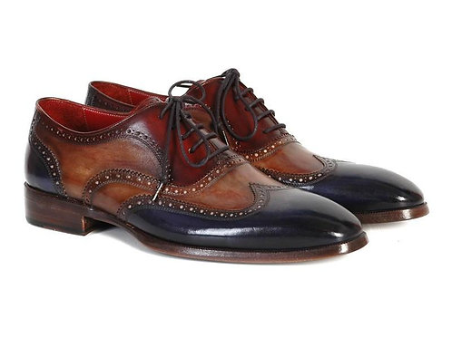 Men's Three Tone Wingtip Oxfords
