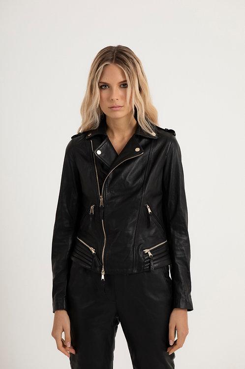 Women's Biker Leather Jacket